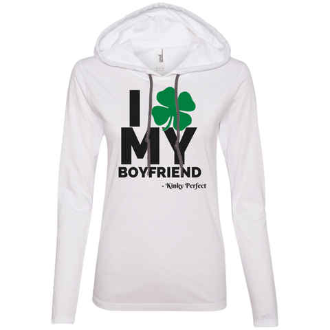 "Kinky Perfect ""I Heart My Boyfriend"" Ladies Slim Hoodie"