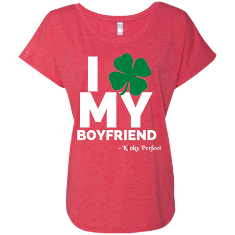 I Love My Boyfriend - Shamrock Baby Doll Tee