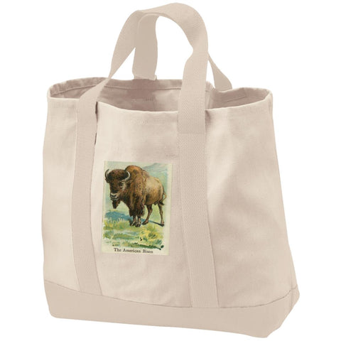 Nature's Print Collection 2-Tone Shopping Tote