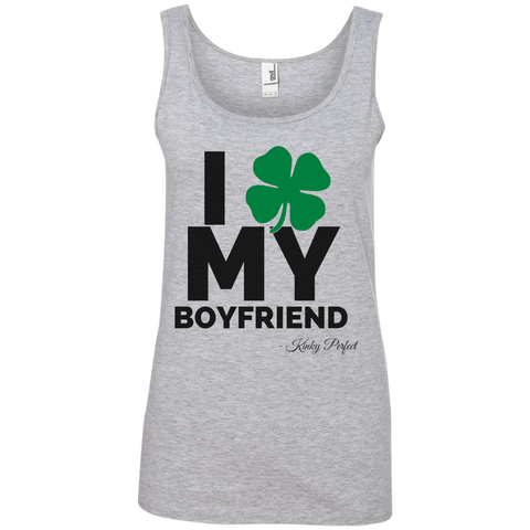 """I Love My Boyfriend"" Ladies' Cotton Tank"