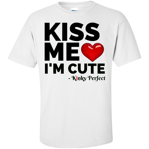 """Kiss Me I'm Cute"" Cotton T-Shirt"