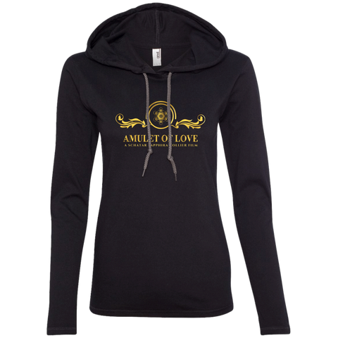 Amulet Of Love Ladies' Long Sleeve T-Shirt With Hood