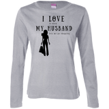 """I Love It When Shopping"" Variant Ladies' Cotton Long Sleeve Tee"