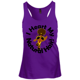 """I Heart My Natural Hair"" Juniors Racerback Tank Top 2"