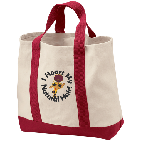 """I Heart My Natural Hair"" 2-Tone Shopping Tote 2"