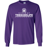 Trekker Life Subway Long Sleeve T-Shirt - Wht