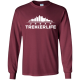 Trekker Life Urban Long Sleeve T-Shirt - Wht