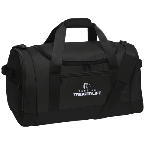 Trekker Life Foodie Travel Sports Duffel - Wht