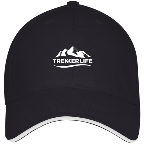 Trekker Life Structured Twill Cap With Sandwich Visor