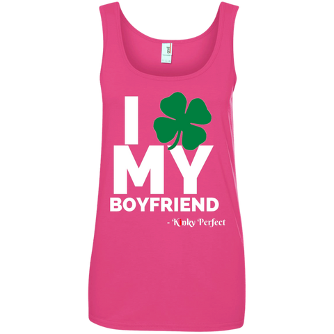 I Love My Boyfriend - Shamrock 100% Cotton Tank Top