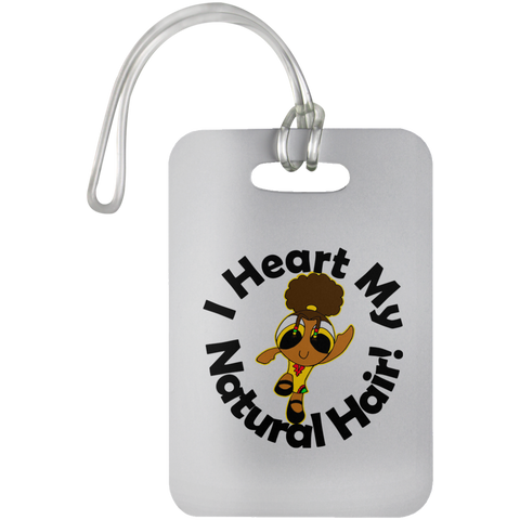 """I Heart My Natural Hair"" Bag Tag"