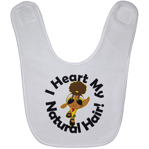 """I Heart My Natural Hair"" Baby Bib"