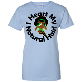 """I Heart My Natural Hair"" Ladies Cotton T-Shirt 3"