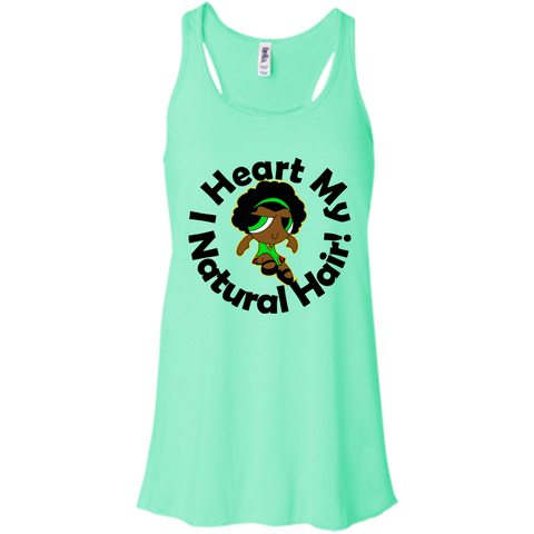 """I Heart My Natural Hair"" Flowy Racerback Tank 3"