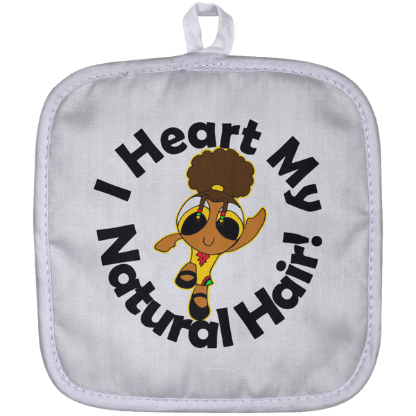 """I Heart My Natural Hair"" Pot Holder 2"