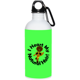 """I Heart My Natural Hair"" 20 oz Stainless Steel Water Bottle"