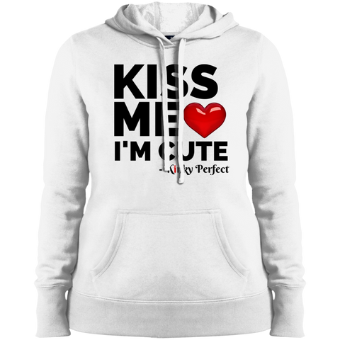 "Kinky Perfect ""Kiss Me I'm Cute""  Ladies Pullover Hoodie"