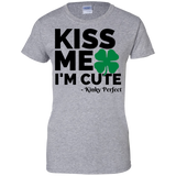 "Kinky Perfect ""Kiss Me I'm Cute"" Ladies' Cotton T-Shirt"
