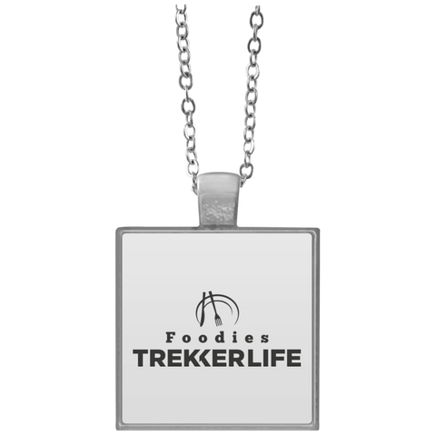 Trekker Life Foodie Square Necklace - Blk