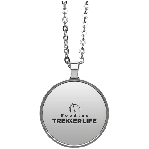 Trekker Life Foodie Circle Necklace - Blk