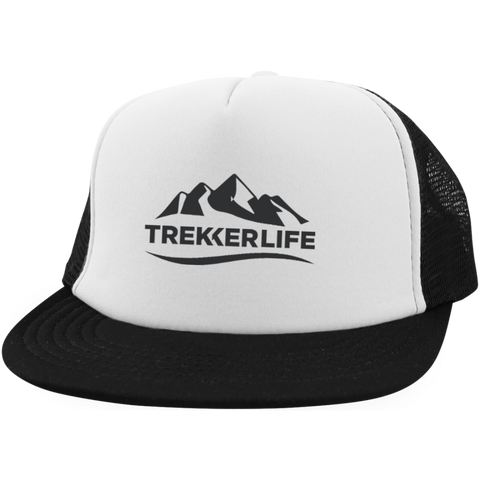 Trekker Life Trucker Hat with Snapback - Blk