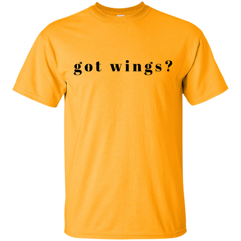 """Got Wings"" Cotton T-Shirt"