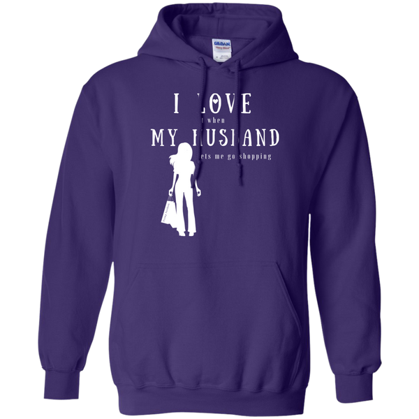 """I Love it When Shopping"" Cotton Hoodie"