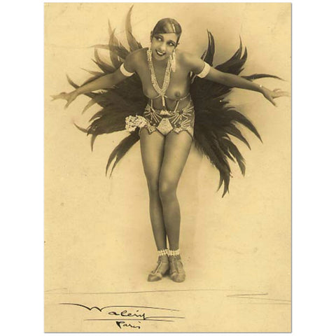 Josephine Baker (Wood Frame Ready To Hang)