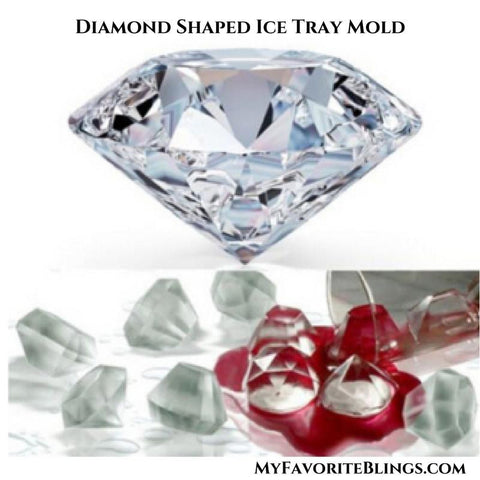 My Favorite Blings Diamond Shaped Ice Tray Mold