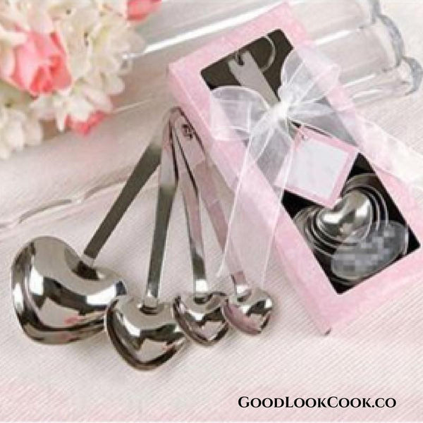 Heart Shaped Stainless Steel Measuring Spoon Set