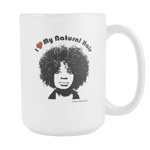 """I Heart My Natural Hair"" Mug"