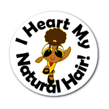 Afro Anime - I Heart My Natural Hair - Decal 2