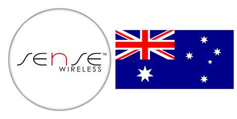 sense wireless logo and Australian flag