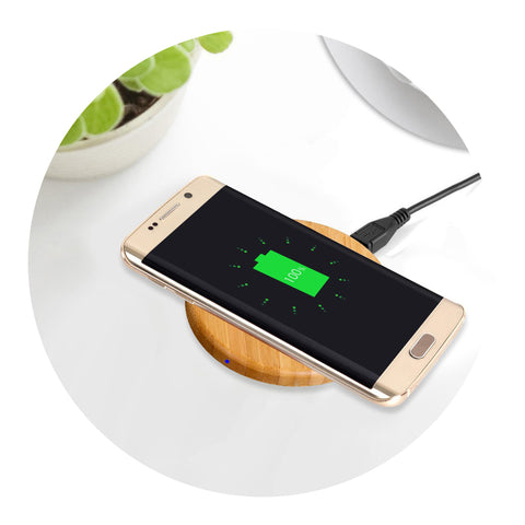 SENSE Wireless Charging Pad Nature Golden Bamboo