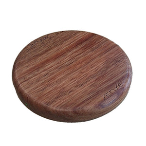 Sense wireless charger charging pad rose timber wood