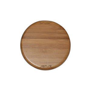 Golden Bamboo Wireless Charging Pad Front