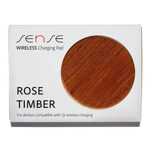 Rose Timber Wireless Charging Pad box