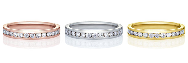 18K Diamond Channel Set Diamond Band