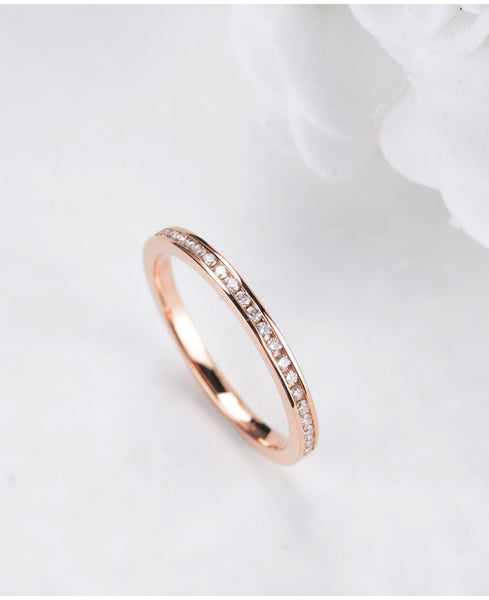 18K Gold Channel Set Diamond Band