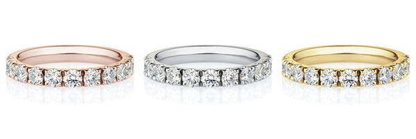 18K Diamond Prong Set Band