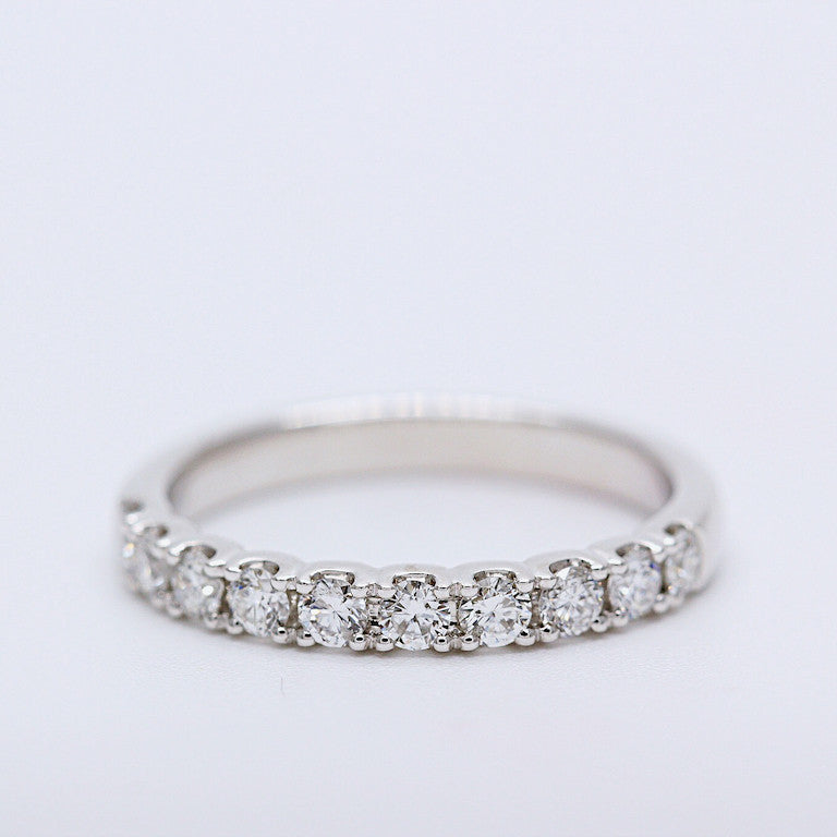 engagement ring tw gold own white in build setmain micropave petite diamond ct micropav your
