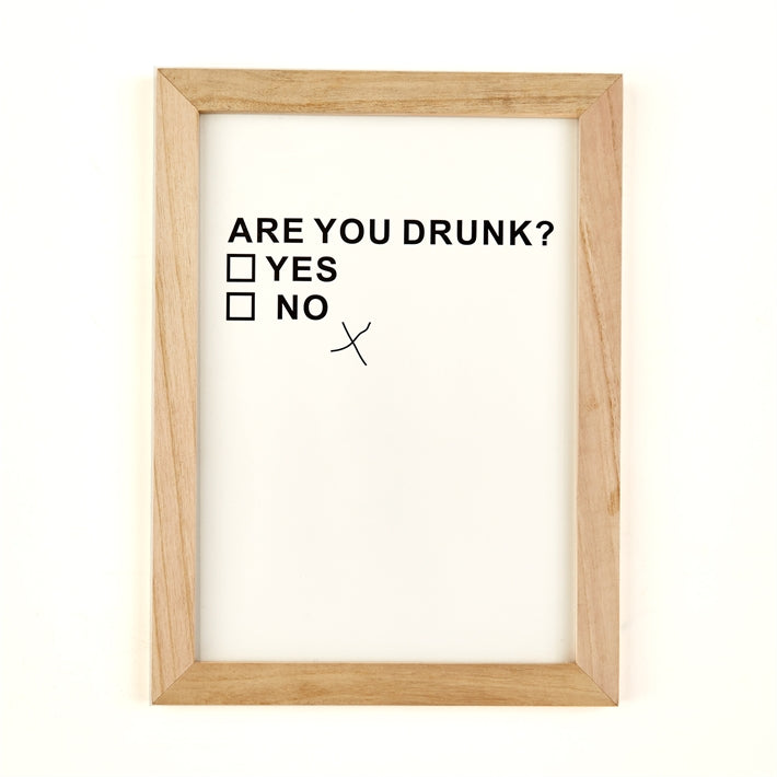 """Are You Drunk?"" Wood Framed Wall Art"
