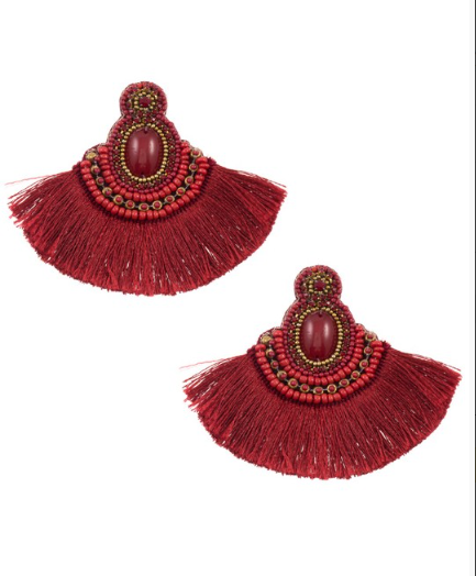 Jeweled Tassel Earring