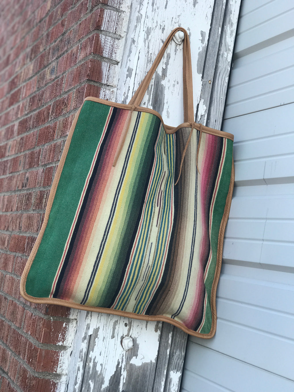 Totem Salvaged Vintage Fadded Serape Tote