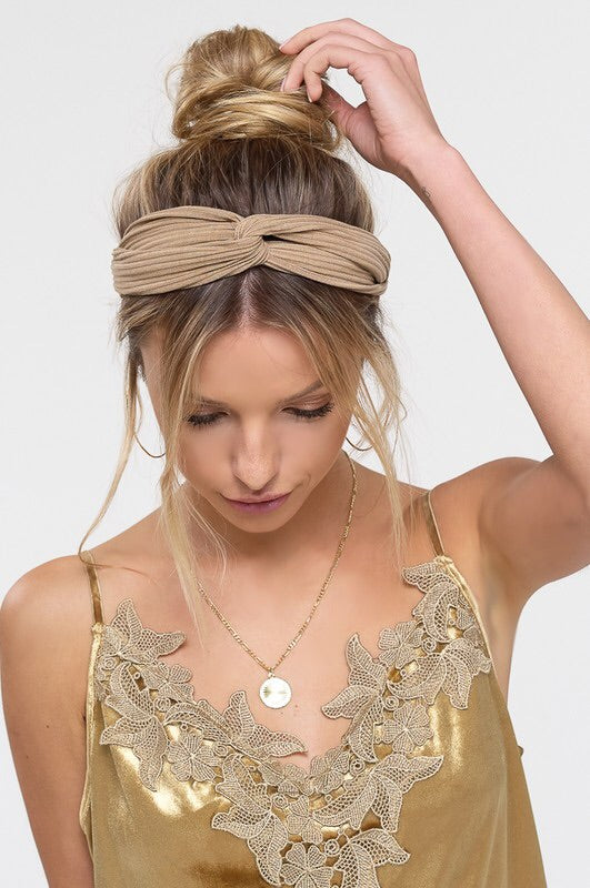 Top Knot Twisted Head Wrap