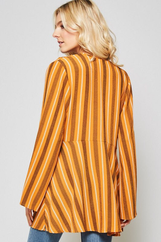 "The ""Joplin"" Striped Bell Sleeve Kimono"