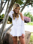 White Beach Session Romper