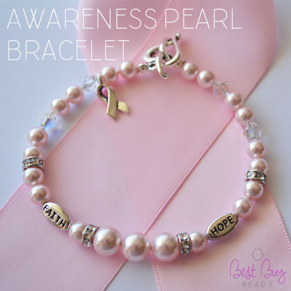 awareness bracelet - Beaded Bracelet Design Ideas