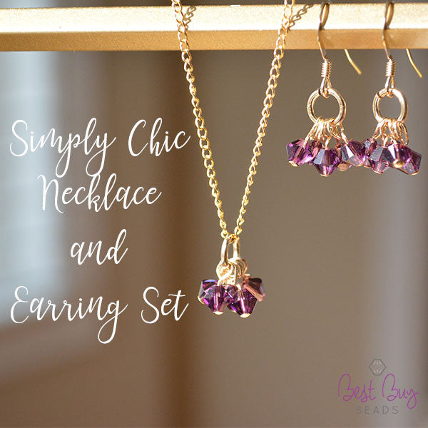 Simply Chic Necklace And Earring Set- Gold