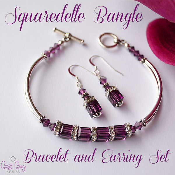 Squaredelle Bangle Bracelet and Earring Set